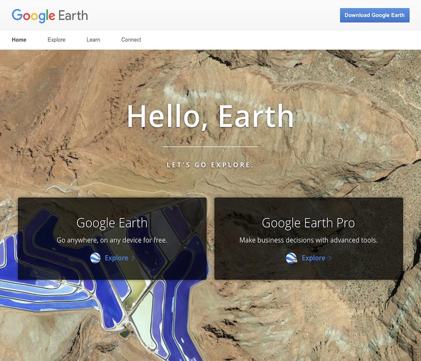 Google Earth Website