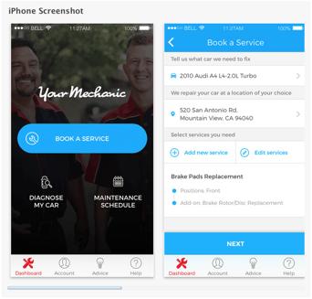 YourMechanic iPhone App Screen Shot