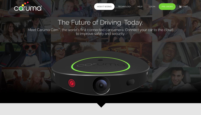 Caruma - The Future of Driving. Today. Website Screen Shot