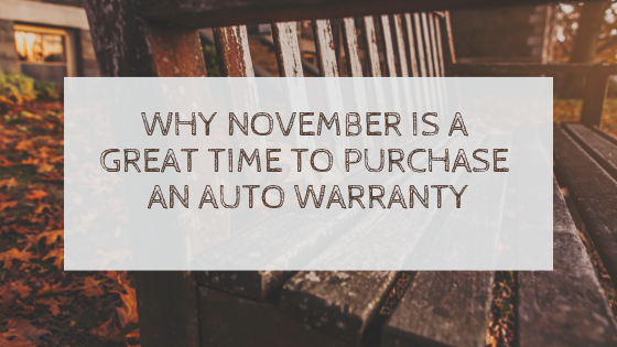 why November is a great time to purchase a vehicle warranty